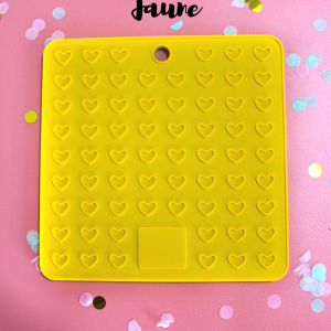 Tapis de léchage jaune