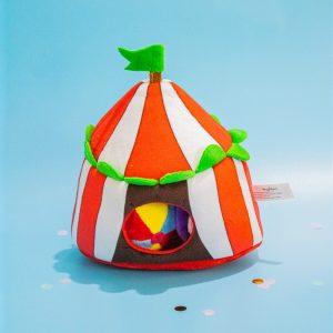 Jouet pour chien en forme de chapiteau de cirque