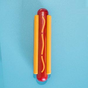 Jouet pour chien hot dog